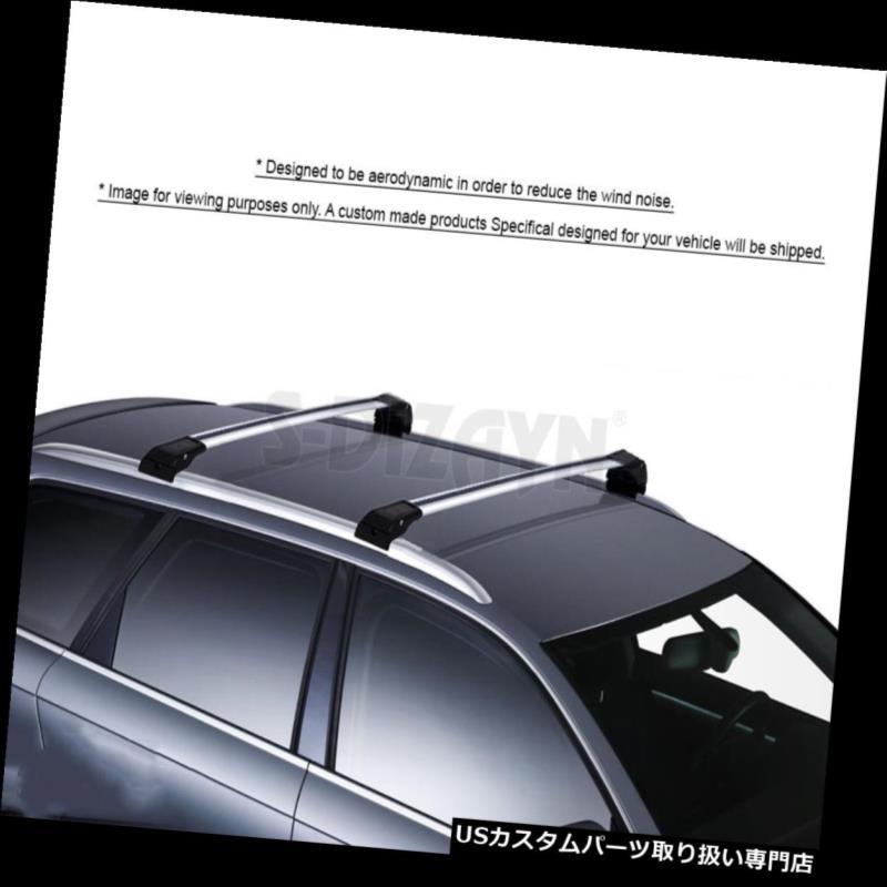 キャリア VW TIGUAN 2016-2018アルミトップルーフラッククロスバークロスレールロック可能2PC VW TIGUAN 2016-2018 ALUMINUM TOP ROOF RACK CROSS BAR CROSS RAILS LOCKABLE 2PC