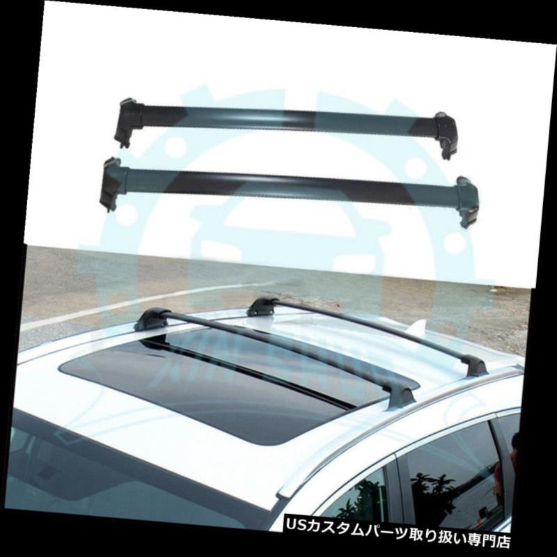 キャリア 2本ホンダCRV CR-V 2017 2018アルミルーフレールルーフラッククロスバーB 2Pcs for Honda CRV CR-V 2017 2018 Aluminium Roof Rail Roof Rack Cross Bars B