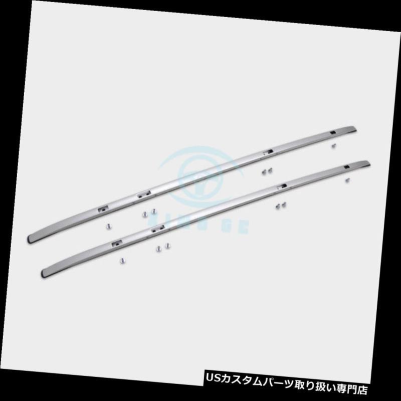 キャリア アルミシルバー4倍ルーフレールラック+クロスバーラゲッジバー用ホンダCRV CR-V 2017 Aluminum Silver 4X Roof Rail Rack+Cross Bar Luggage Bars For Hoda CRV CR-V 2017