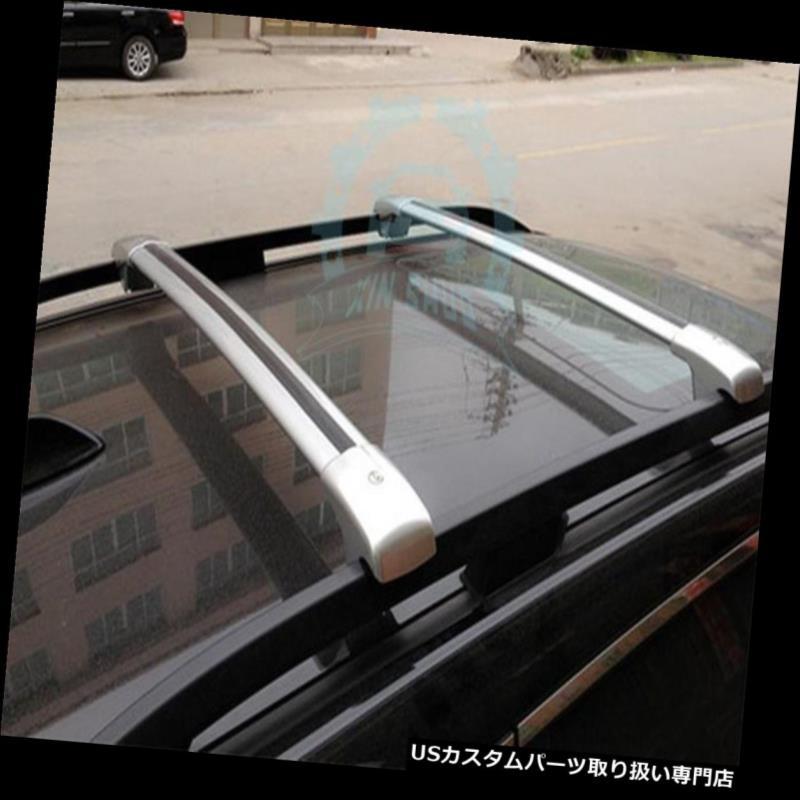 キャリア スバルフォレスター用2009-12フィットトップルーフレールラッククロスバーバー荷物新しい For Subaru Forester 2009-12 Fit Top Roof Rails Rack Cross bars Cargo Luggage New