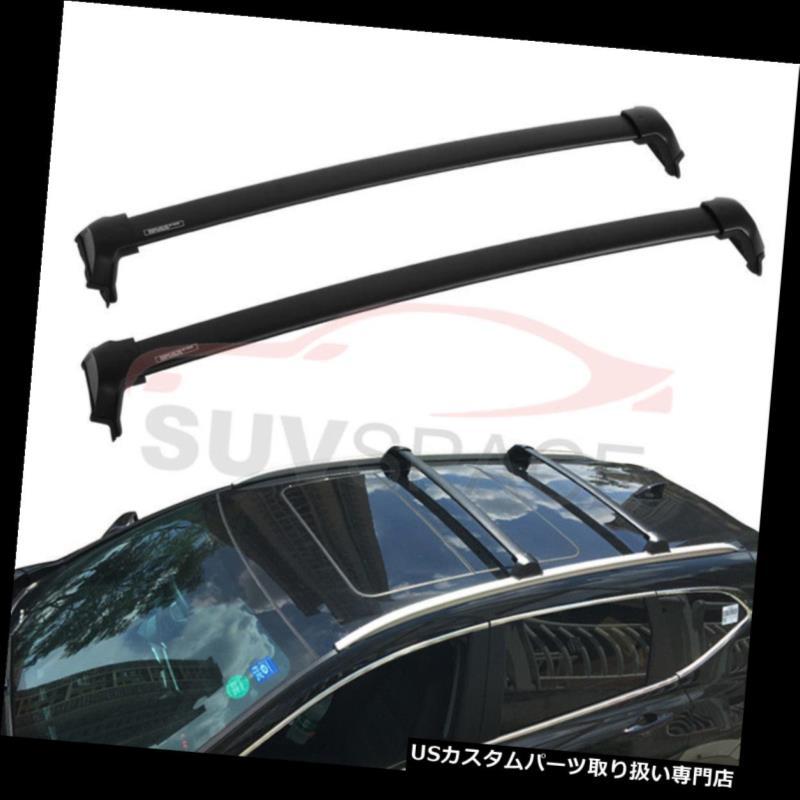 キャリア 2017ホンダCRVクロスバーOEスタイルバーブラックマウントボルト用アルミルーフラック Aluminum Roof Rack For 2017 Honda CRV Cross Bar OE Style Bars Black Mount Bolt