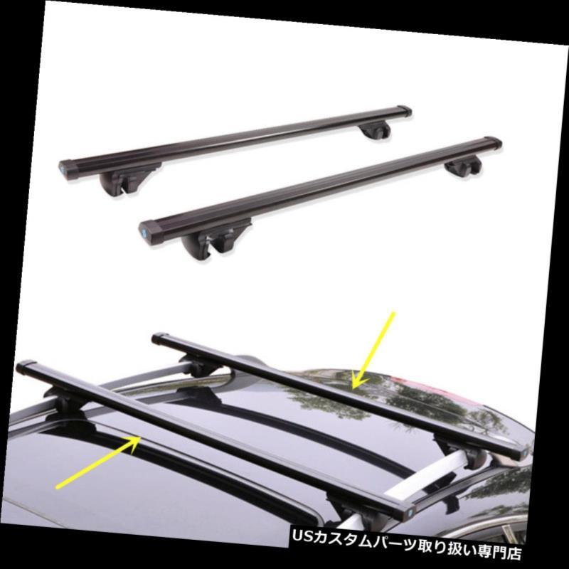 キャリア Infiniti QX50 / QX70 / QX80 2014-16用ブラックトップクロスバールーフカーゴ荷物ラック For Infiniti QX50/QX70/QX80 2014-16 Black Top Cross Bar Roof Cargo Luggage Rack