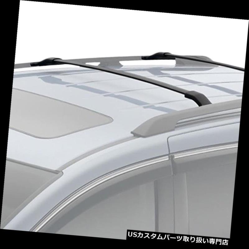 キャリア 11-17ホンダオデッセイのための2xアルミニウム屋根の棚の柵の十字棒貨物貨物運搬船の黒 2x Aluminum Roof Rack Rail Cross Bar Cargo Carrier Black For 11-17 Honda Odyssey