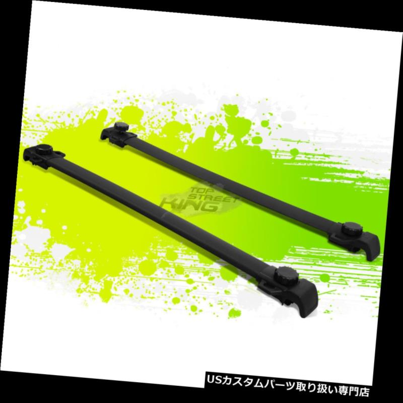 キャリア 09-17用DODGE JOURNEY BLACK OEスタイルルーフラック/レールトップ荷物カーゴクロスバー FOR 09-17 DODGE JOURNEY BLACK OE STYLE ROOF RACK/RAIL TOP LUGGAGE CARGO CROSSBAR