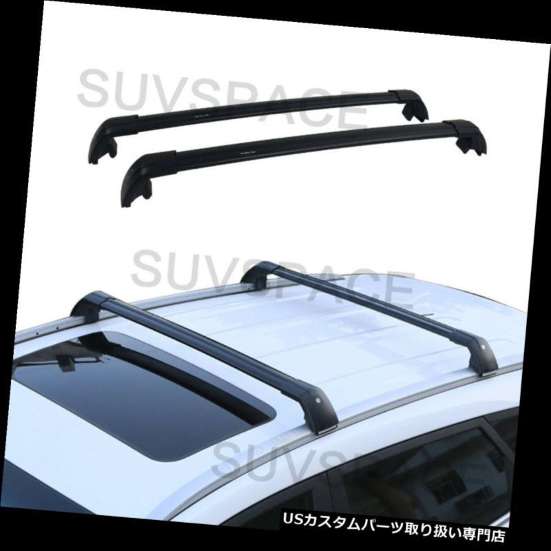 キャリア アウディQ3 2012-2017クロスバートップブラックルーフラゲッジラックにフィット Fit for Audi Q3 2012-2017 Cross Bar Top Black Roof Luggage Rack
