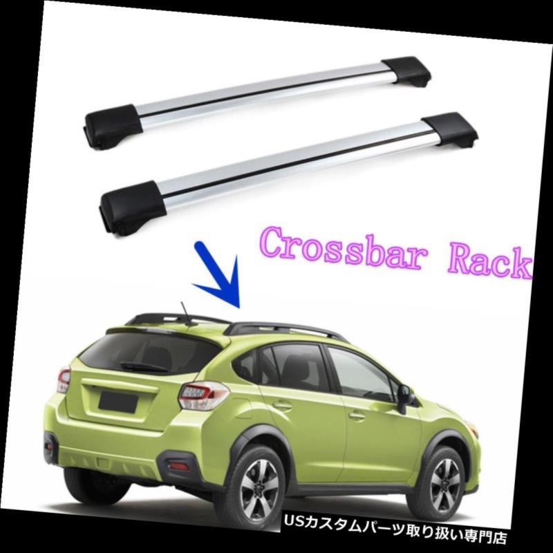 キャリア スバルXV 2012-16用プラスチック+アルミ umアロイルーフクロスバーラックラゲッジキャリア for Subaru XV 2012-16 Plastic+Aluminum Alloy Roof Crossbar Rack Luggage Carrier