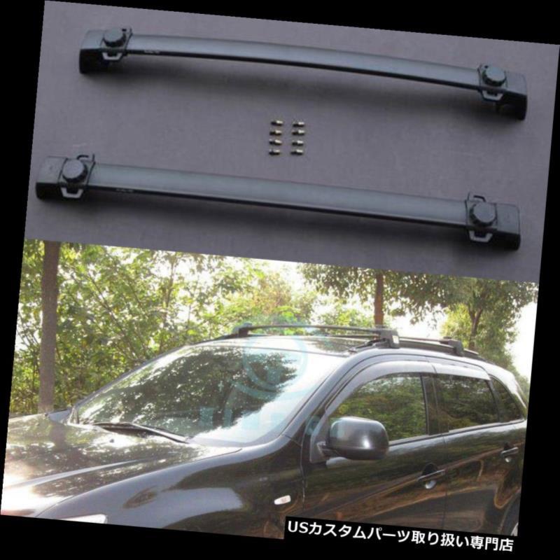 キャリア 三菱ASX Outlander Sport 10-16フィットトップルーフラゲッジラッククロスバーレール用 For Mitsubishi ASX Outlander Sport 10-16 Fit Top Roof Baggage Rack Crossbar Rail
