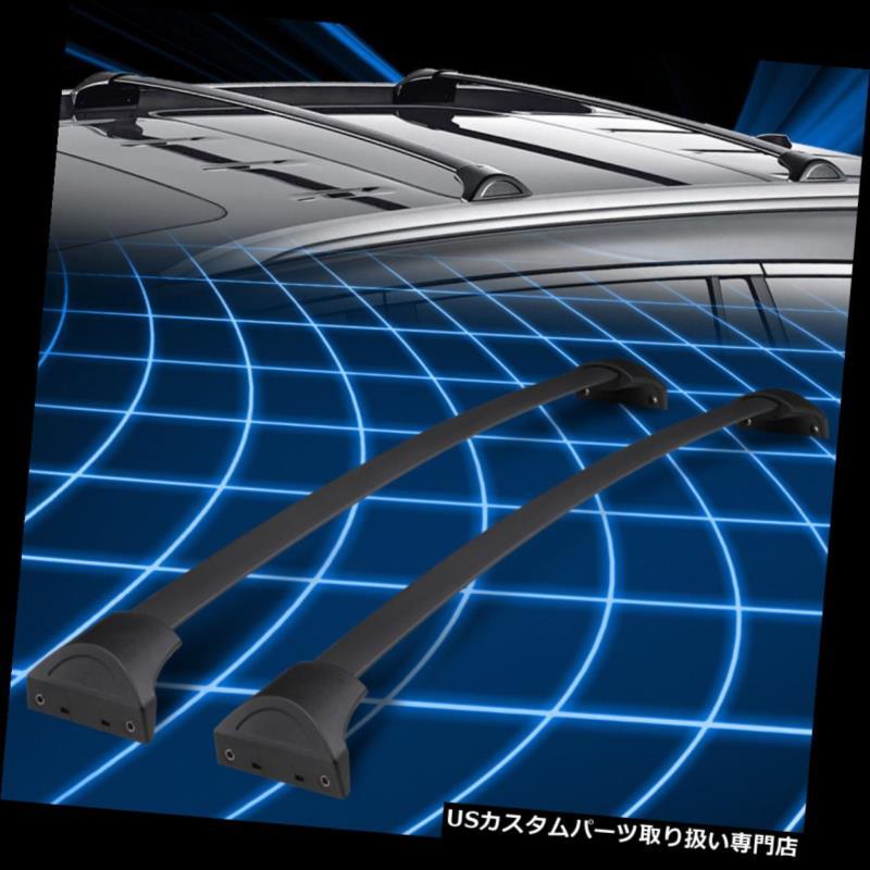 キャリア 16-18ホンダパイロット2ピースOEブラッククロスバールーフトップラック荷物貨物運搬船用 FOR 16-18 Honda Pilot 2Pc OE Black Cross Bar Roof Top Rack Luggage Cargo Carrier
