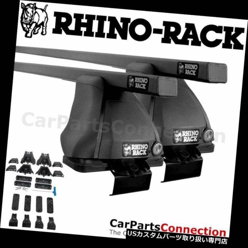 キャリア サイラックJB0539ユーロブラックルーフクロスバー三菱ランサー08-15 Rhino-Rack JB0539 Euro Black Roof Crossbar For MITSUBISHI Lancer 08-15