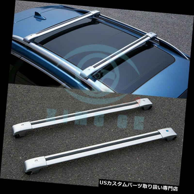 キャリア 銀製の合金の自動ルーフラックの貨物運搬人のクロスバーはスバルXV 2012-2017のために合いました Silver Alloy Auto Roof Racks Cargo Carrier Cross Bar Fit For Subaru XV 2012-2017