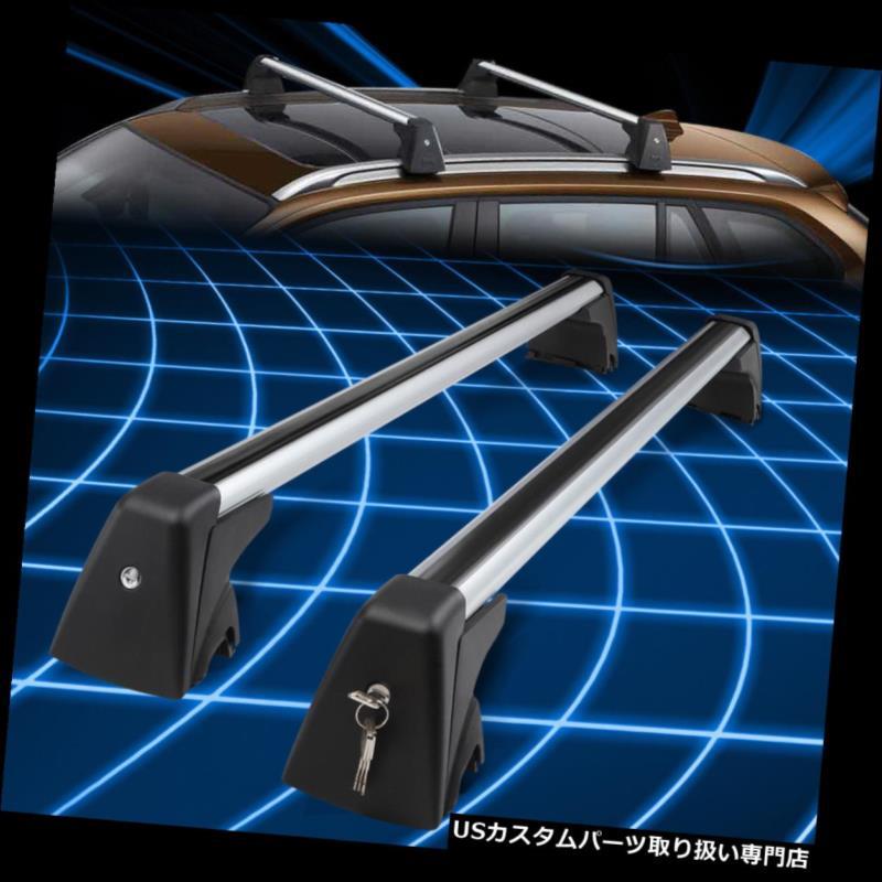 キャリア 09-15 BMW X1 OEアルミルーフトップレールクロスバーカーゴキャリアw /ロック付き+キー For 09-15 BMW X1 OE Aluminum Roof Top Rail Cross Bar Cargo Carrier w/Lock+Key