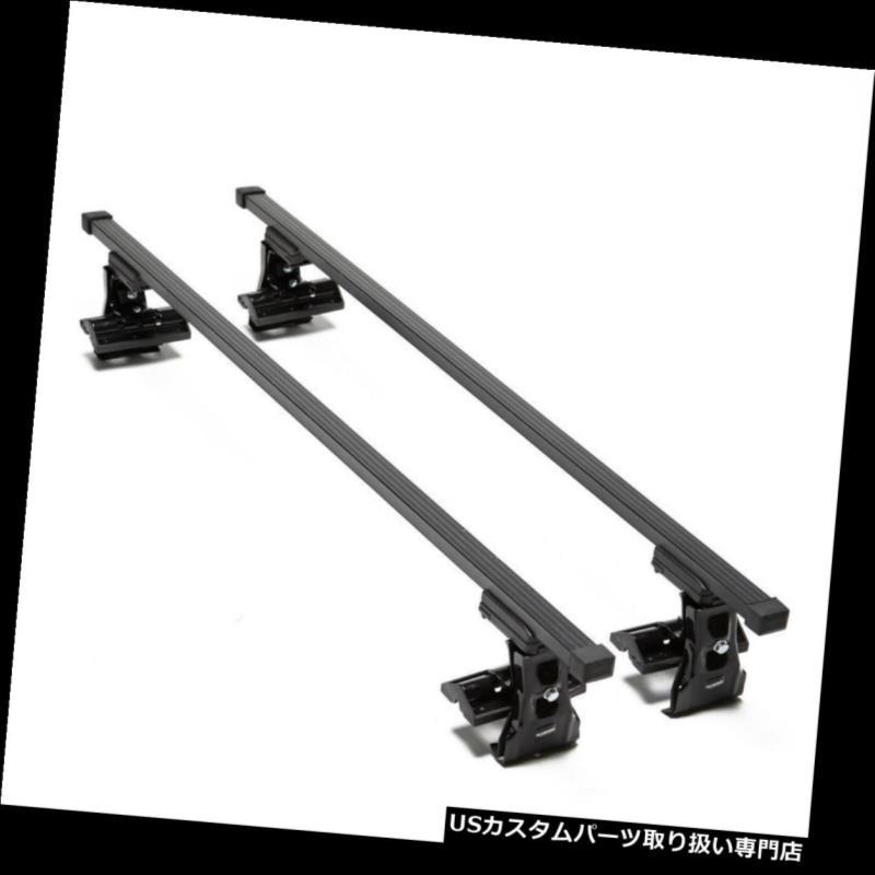 キャリア プジョー1007 2005 - 2009 3ドアクロスバー用ルーフラックバーセット Roof Rack Bar Set For PEUGEOT 1007 2005 - 2009 3 DOOR CROSS BARS