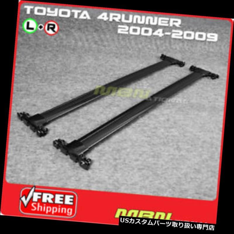 キャリア 04-09トヨタ4ランナールーフラッククロスバーブラックラゲッジキャリアキット For 04-09 Toyota 4Runner Roof Rack Cross Bar Black Luggage Carrier Kit