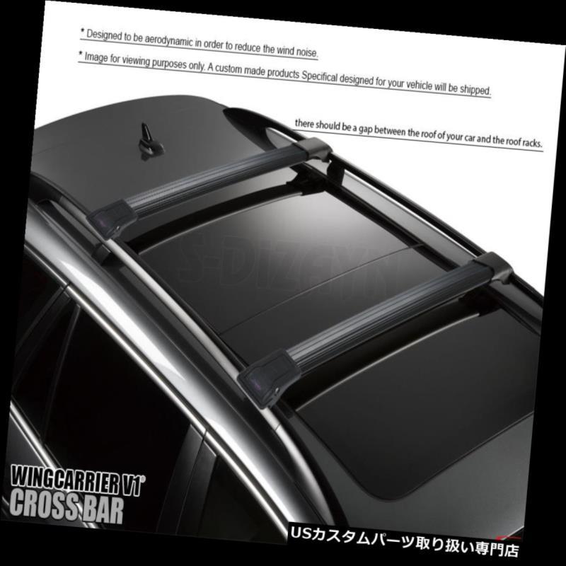 キャリア VOLVO XC 90 2003-2015アルミトップルーフラッククロスバークロスレールロック可能ブラック VOLVO XC 90 2003-2015 ALUMINUM TOP ROOF RACK CROSS BAR CROSS RAIL LOCKABLE BLACK
