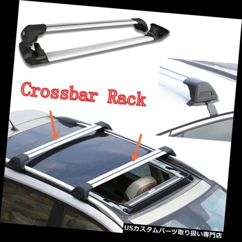 キャリア ホンダ都市のための2本のアルミ合金車のルーフ荷物ラッククロスバーラック2014-2016 2pcs Aluminum Alloy Car Roof Luggage Rack Crossbar Rack for Honda City 2014-2016