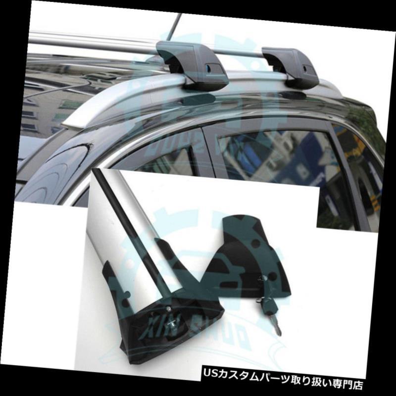 キャリア スバルXV 2012-2016アルミルーフレールラッククロスバークロスバーB用2個 2Pcs for Subaru XV 2012-2016 Aluminium Roof Rail Rack Cross Bars Crossbars B