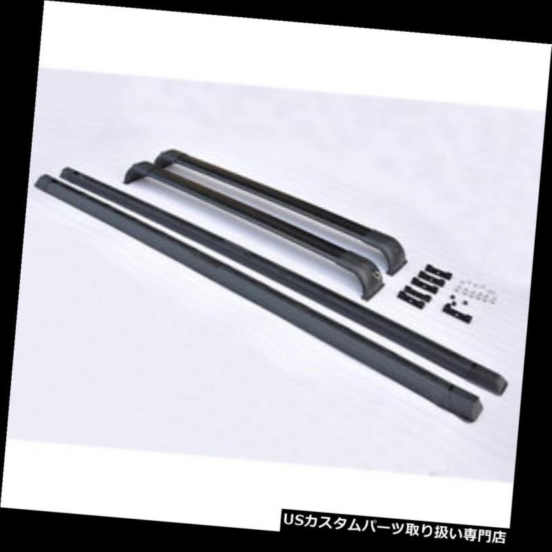 キャリア ウーブラックルーフラックレールクロスバーセット2003-2012ランドローバーレンジHSE woo Black Roof Rack Rails Cross Bar Set For 2003-2012 Land Rover Range HSE
