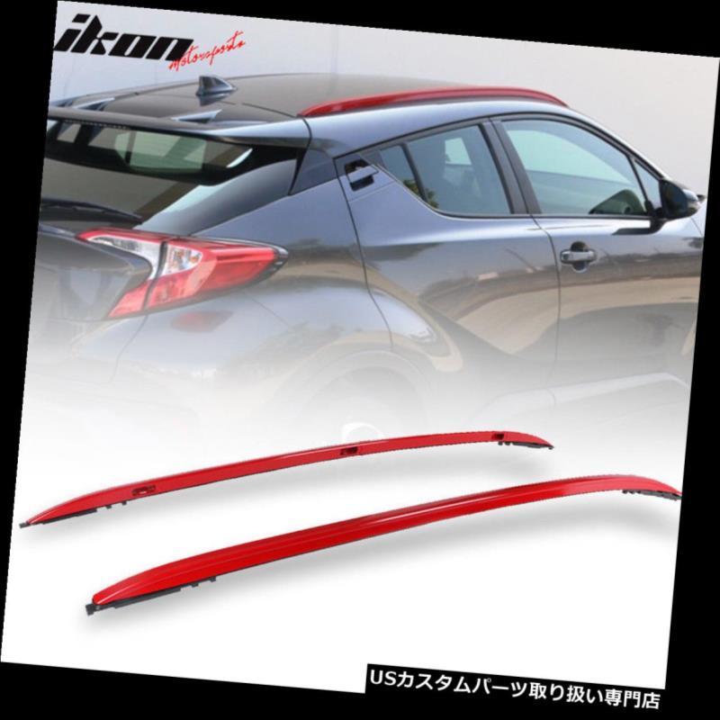 キャリア 17-19トヨタCH-R OEスタイルレッドルーフラックサイドレールバーアルミにフィット Fits 17-19 Toyota CH-R OE Style Red Roof Rack Side Rails Bar Aluminum