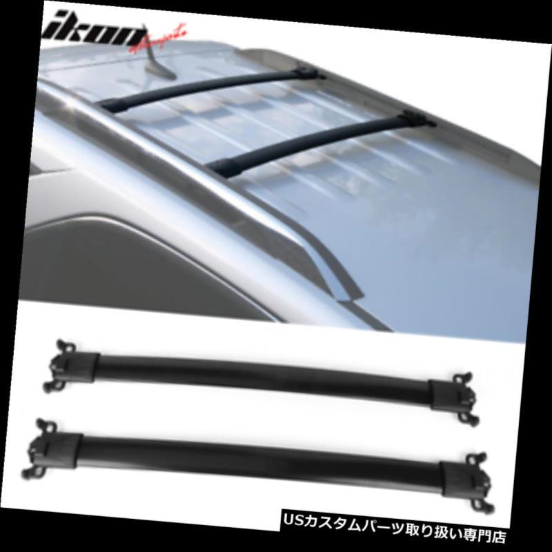 キャリア 10-17シボレー春分GMC地形ファクトリースタイルトップルーフラッククロスバーブラックにフィット Fits 10-17 Chevy Equinox GMC Terrain Factory Style Top Roof Rack Cross Bar Black