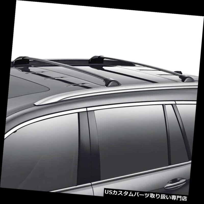 キャリア 16-18ホンダパイロット2ピースブラッククロスバールーフトップラック荷物荷物キャリア For 16-18 Honda Pilot 2Pcs Black Cross Bar Roof Top Rack Luggage Baggage Carrier