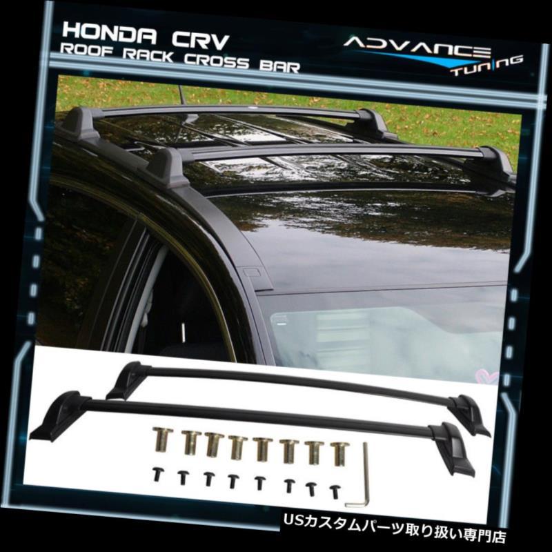 キャリア 07-11ホンダCRV CR-V OEファクトリースタイルブラックトップルーフラッククロスバー用フィット Fit For 07-11 Honda CRV CR-V OE Factory Style Black Top Roof Rack Cross Bar