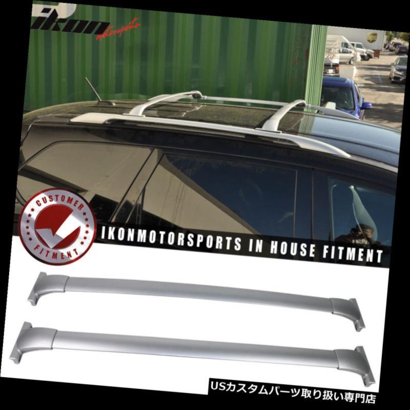 キャリア 13-17日産パスファインダーOEファクトリースタイルルーフラッククロスバーペアシルバーにフィット Fits 13-17 Nissan Pathfinder OE Factory Style Roof Rack Cross Bar Pair Silver