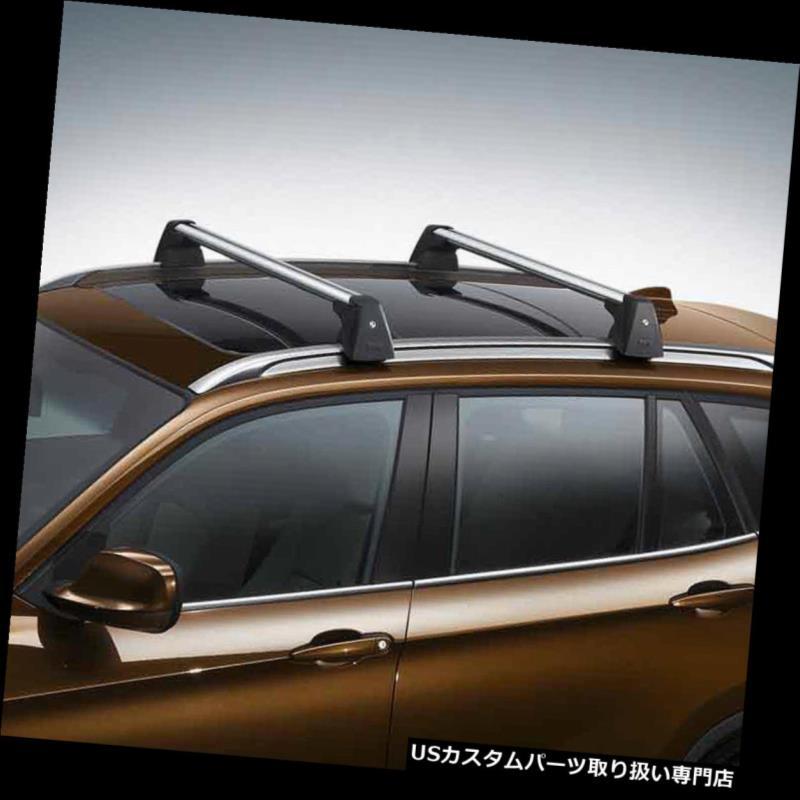 キャリア 2 xまたはアルミ製ルーフレールクロスバー荷物キャリア、ロック付き+ 09-15 BMW X1用 2x OE Aluminum Roof Rail Cross Bar Baggage Carrier w/Lock+Key For 09-15 BMW X1