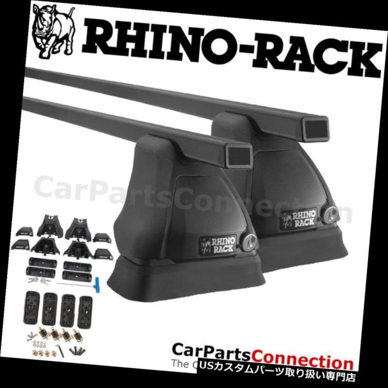 キャリア サイラックJB0437ユーロブラックFMPルーフクロスバーヒュンダイアクセントハッチ12-17用 Rhino-Rack JB0437 Euro Black FMP Roof Crossbar For HYUNDAI Accent Hatch 12-17