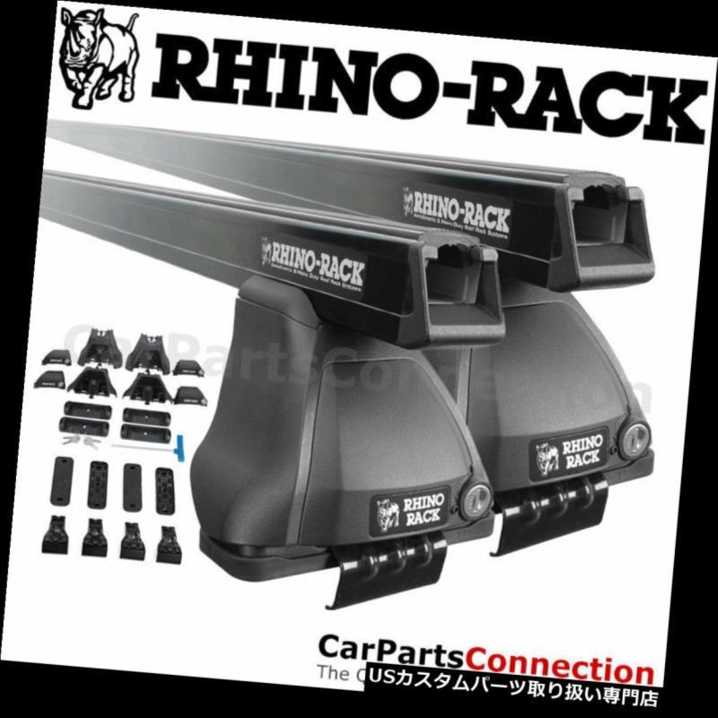 キャリア RhinoラックJA4567 HONDA Civic Sedan 12-15用ヘビーデューティブラックルーフクロスバー Rhino-Rack JA4567 Heavy Duty Black Roof Crossbar For HONDA Civic Sedan 12-15