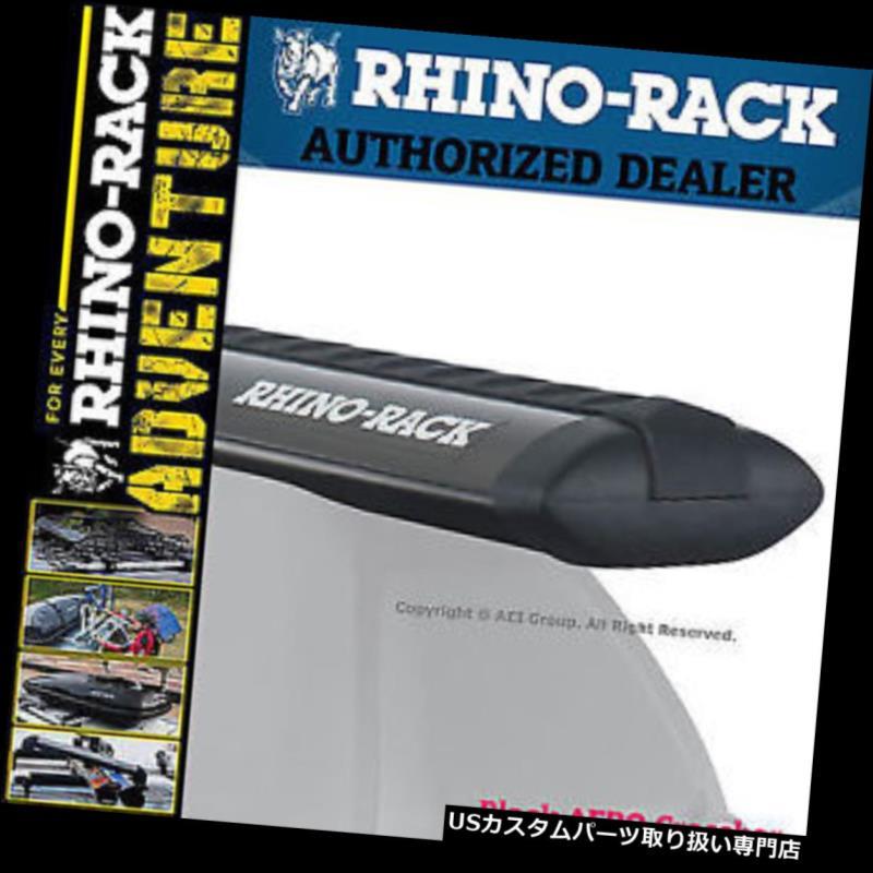 キャリア Rhino Rack Aero 71インチアルミオーバルブラックルーフクロスバーVA180B Rhino Rack Aero 71 inches Aluminum Oval Black Roof Cross Bar VA180B