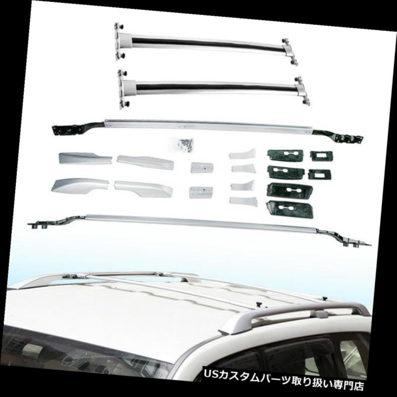キャリア 4 PCSクロスバー トヨタランドクルーザーFJ200 LC200 2008-2018用ルーフレール 4 PCS Crossbars & Roof Rails Fit for Toyota Land Cruiser FJ200 LC200 2008-2018
