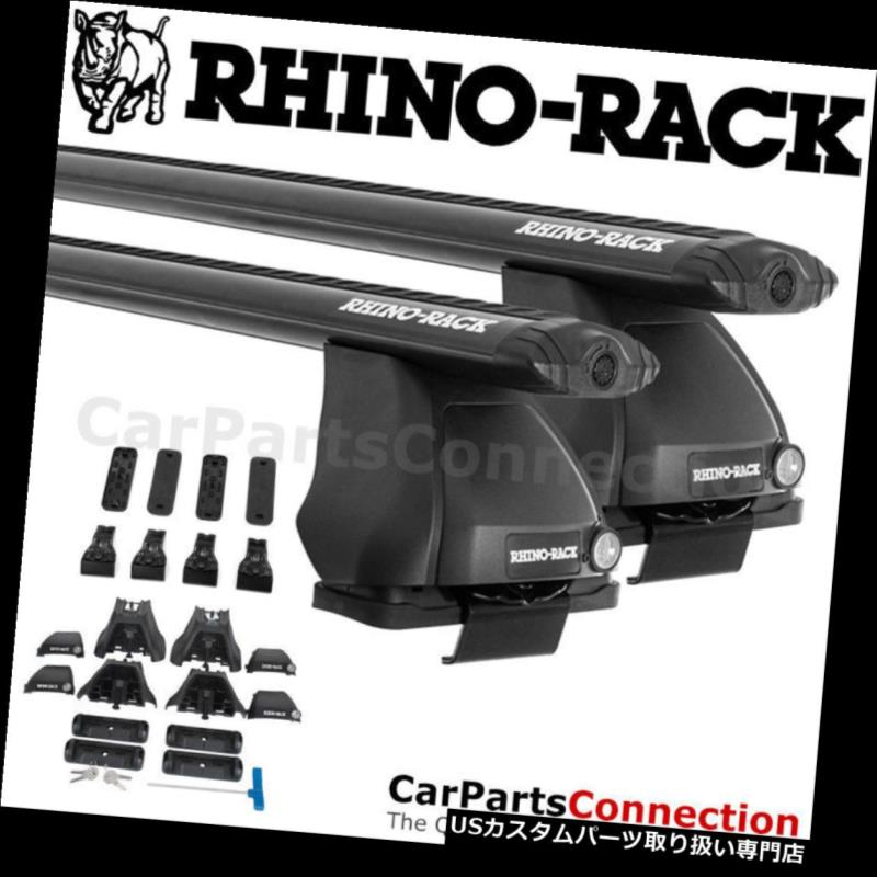 キャリア LINCOLN MKS 09-16用RhinoラックJA3591 Vortex 2500ブラックルーフクロスバーキット Rhino-Rack JA3591 Vortex 2500 Black Roof Crossbar Kit For LINCOLN MKS 09-16