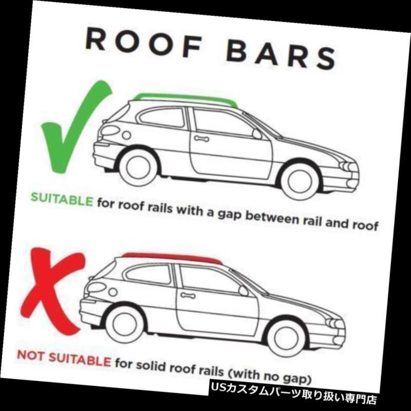 キャリア クロスバールーフラックアルミロックはPeugeot 206 SW / Estate 2002-2010に適合 Cross Bars Roof Rack Aluminium Locking fits Peugeot 206 SW / Estate 2002-2010