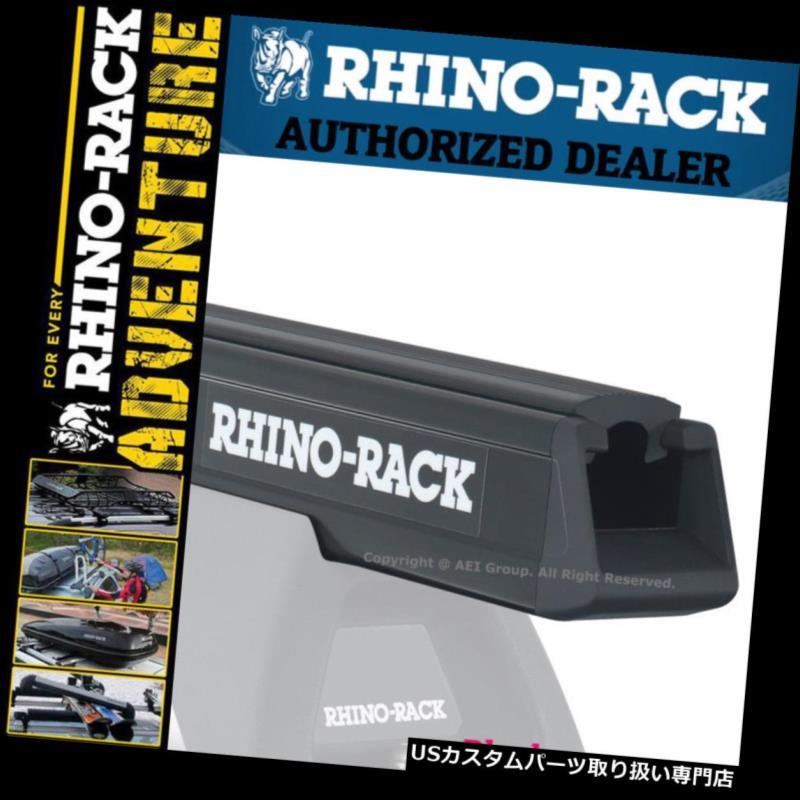 キャリア Rhinoラックヘビーデューティ50インチアルミブラックルーフクロスバーRB1250B Rhino Rack Heavy Duty 50 inches Aluminum Black Roof Cross Bar RB1250B