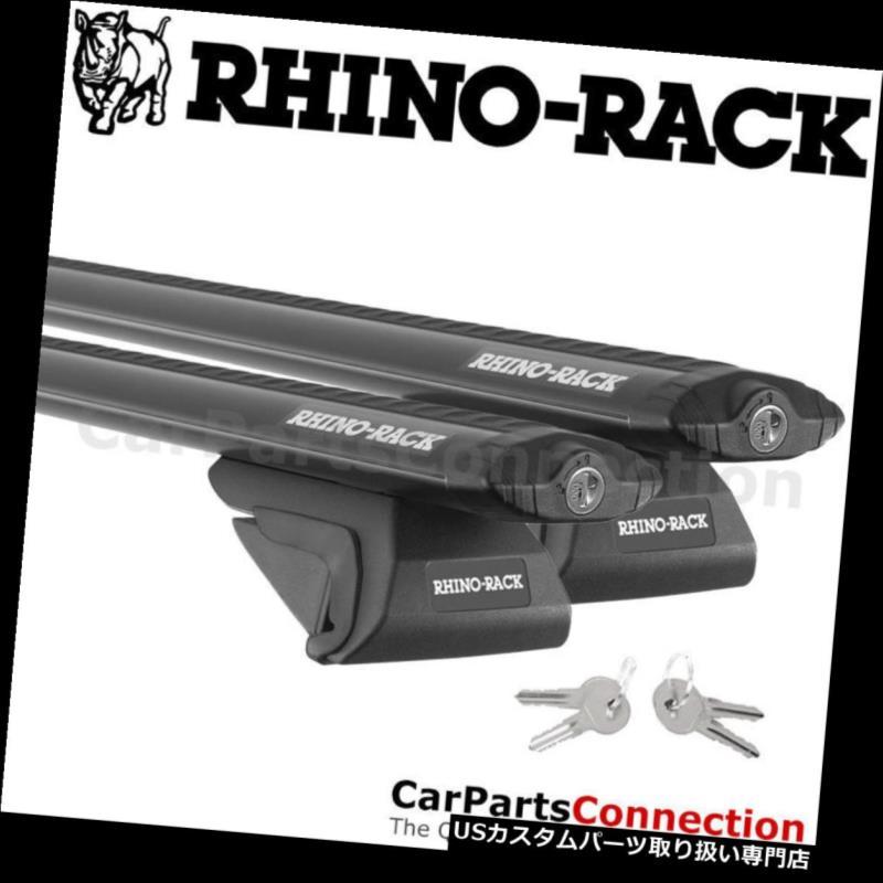 USキャリア RhinoラックJA9137 SXブラックルーフクロスバーキットアウディ80 w /ルーフレール91-96用 Rhino-Rack JA9137 SX Black Roof Crossbar Kit For AUDI 80 w/ Roof Rails 91-96