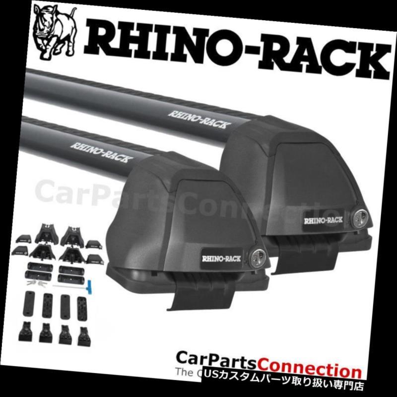 キャリア ホンダRidgeline 06-14のためのRhinoラックRS454B Vortex 2500 RSブラックルーフクロスバー Rhino-Rack RS454B Vortex 2500 RS Black Roof Crossbar For HONDA Ridgeline 06-14