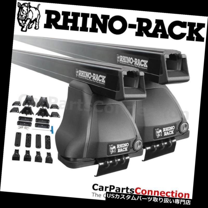 キャリア 日産キューブ09-14用RhinoラックJA4832ヘビーデューティ2500ブラックルーフクロスバーキット Rhino-Rack JA4832 Heavy Duty 2500 Black Roof Crossbar Kit For NISSAN Cube 09-14