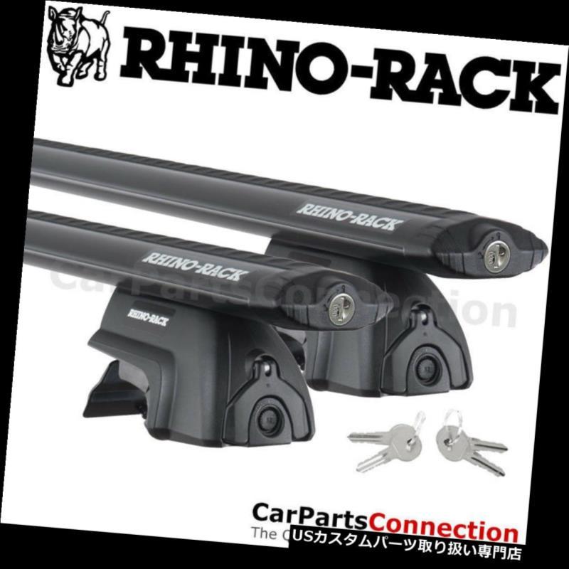 キャリア RhinoラックJA6020 SXシボレートラックス(屋根付き)15-18用ブラックルーフクロスバー Rhino-Rack JA6020 SX Black Roof Crossbar For Chevy Trax w/ Roof Rails 15-18