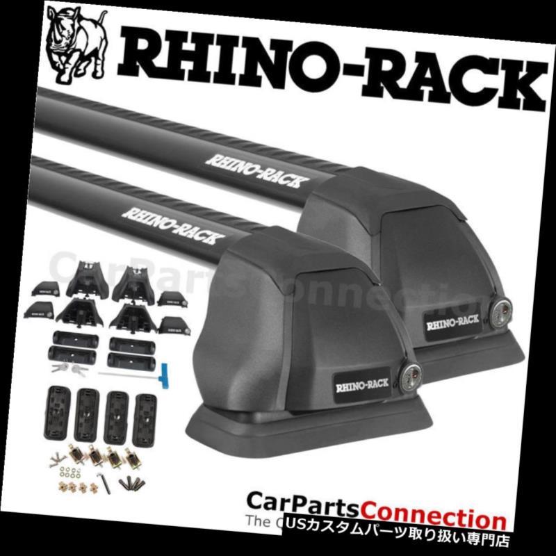 キャリア RhinoラックRS650B 2500 RSブラックFMPルーフクロスバーCクラスW205セダン15-18用 Rhino-Rack RS650B 2500 RS Black FMP Roof Crossbar For C-Class W205 Sedan 15-18
