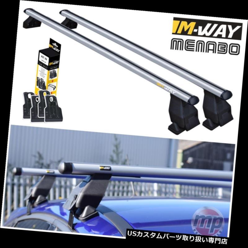 キャリア MWayアルミルーフラックレールクロスバー(シート用)Ibiza 02-09 +固定キット14 MWay Aluminium Roof Rack Rail Cross Bars to fit Seat Ibiza 02-09 + Fixing Kit 14