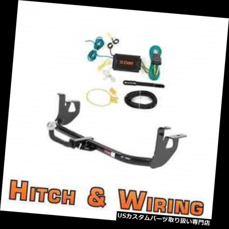 ヒッチメンバー カートクラス1トレーラーヒッチ& A 06-09 VW GTI /ウサギ用2インチボール付きユーロキットの配線 Curt Class 1 Trailer Hitch & Wiring Euro kit w/ 2