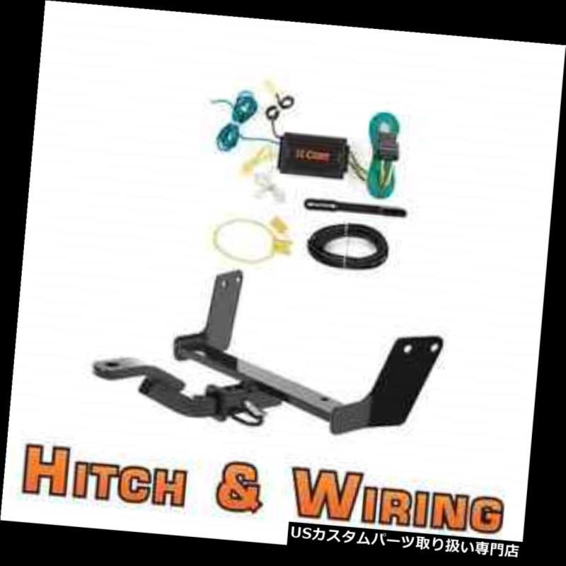 ヒッチメンバー カート1クラストレーラーヒッチ(マウント&アンプ付き) アウディA4の配線 A4クワトロ Curt Class 1 Trailer Hitch w/Mount & Wiring for Audi A4 & A4 Quattro
