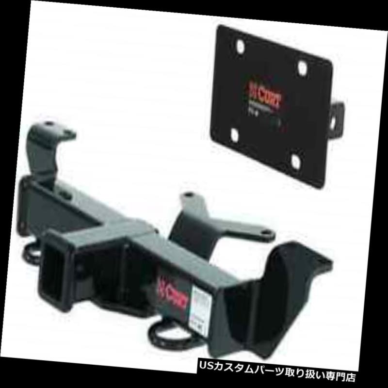 ヒッチメンバー Curt Front Mount Trailerヒッチ&アンプ Honda Pilot / Ridgelin用ナンバープレートホルダー e Curt Front Mount Trailer Hitch & License Plate Holder for Honda Pilot/Ridgeline