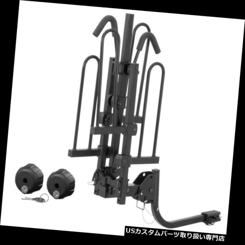 ヒッチメンバー Curt 18084トレイスタイルヒッチマウントバイクラック、1.25インチまたは2インチレシーバー用ロック付き Curt 18084 Tray-Style Hitch Mounted Bike Rack w/ Locks for 1.25