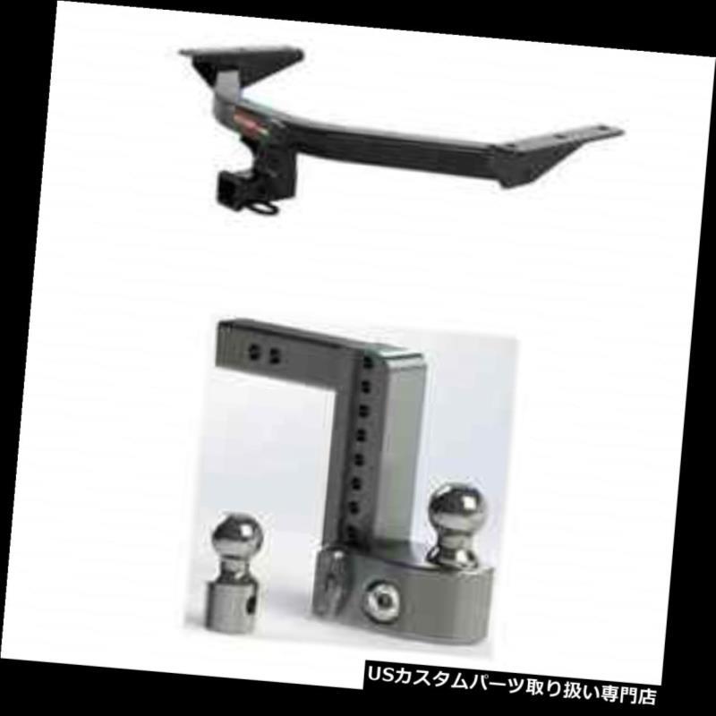 ヒッチメンバー カート3クラストレーラーヒッチw /安全に調整可能な8インチパイロット用ボールマウント Curt Class 3 Trailer Hitch w/Weigh Safe Adjustable 8