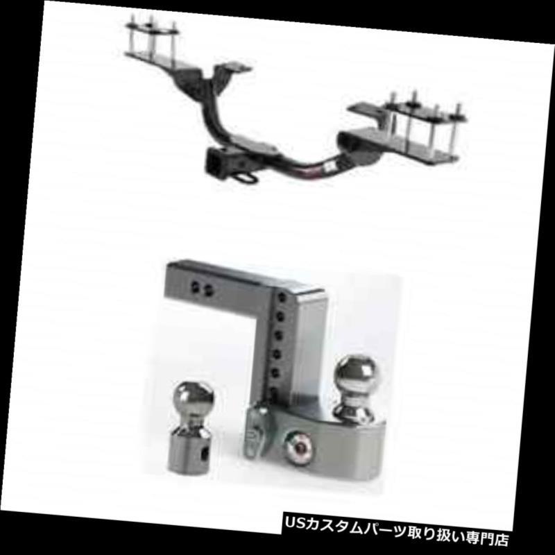 ヒッチメンバー カートクラス3トレーラーヒッチw / GL 5 5 0 / ML 3 5 0用安全調整可能6インチボールマウント Curt Class 3 Trailer Hitch w/Weigh Safe Adjustable 6