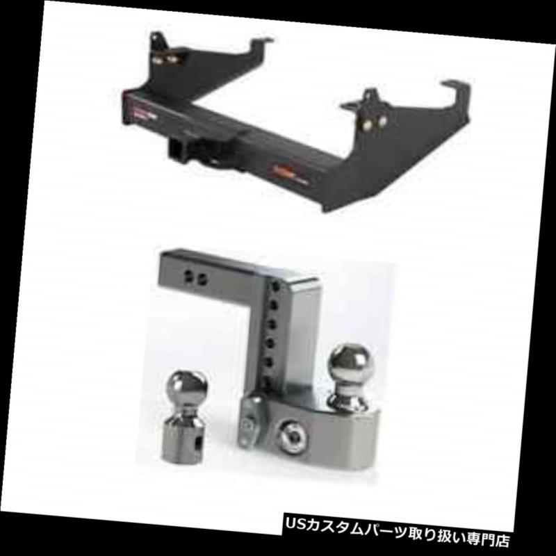 ヒッチメンバー カートクラス5 XDトレーラーヒッチw / F-250 SD用安全調整可能6インチボールマウント Curt Class 5 XD Trailer Hitch w/Weigh Safe Adjustable 6