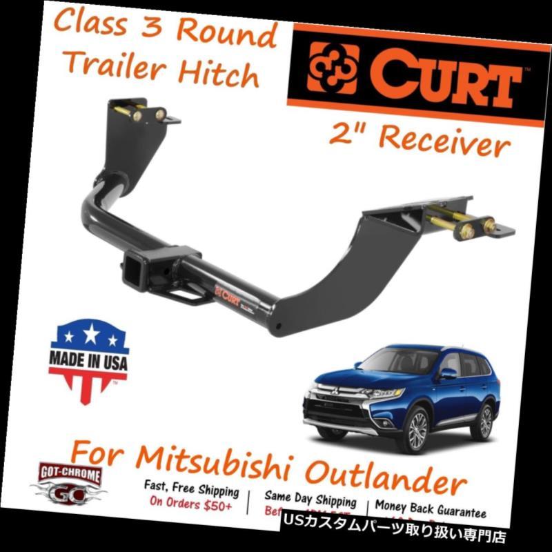 ヒッチメンバー 13163 Curt Class 3ラウンドトレーラーヒッチ2インチ・アウトランダー用レシーバーチューブ 13163 Curt Class 3 Round Trailer Hitch with 2