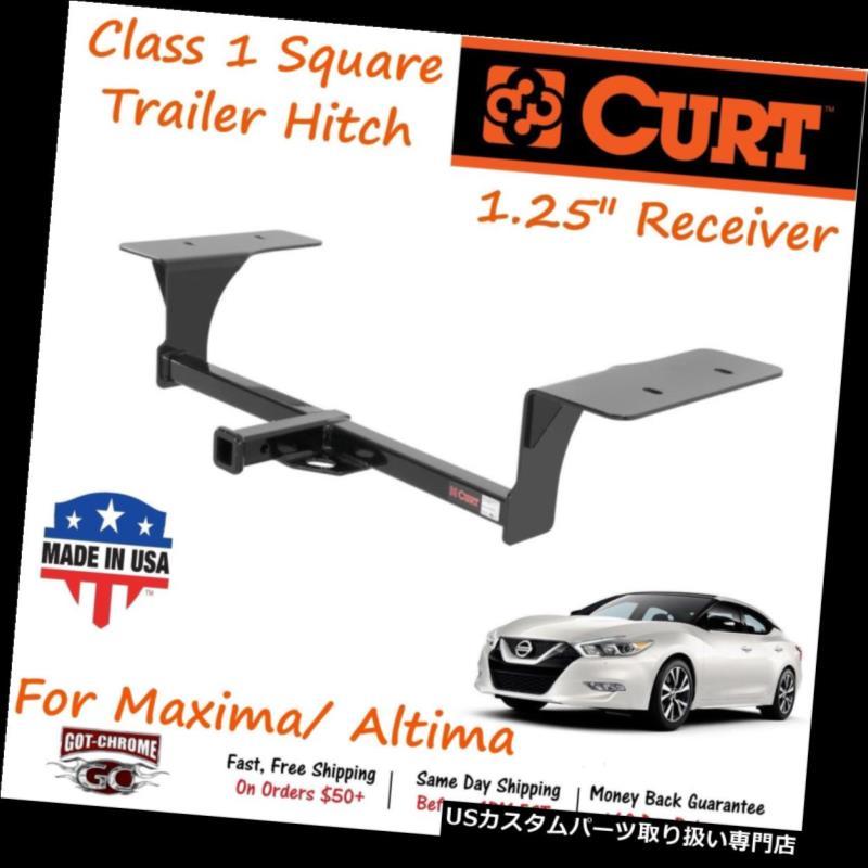 ヒッチメンバー 11352 Curt Class 1スクエアトレーラーヒッチ(1.25インチレシーバーチューブ付) - アルティマ/マキシマ 11352 Curt Class 1 Square Trailer Hitch with 1.25