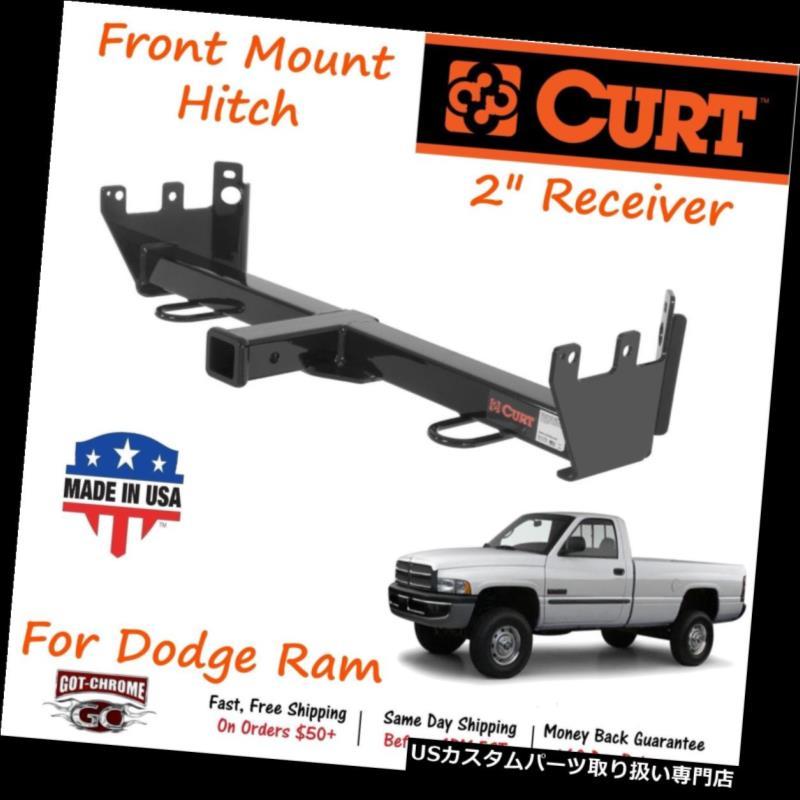 ヒッチメンバー 31604カートフロントマウントヒッチ(5000LB GTW、Dodge Ram用2インチレシーバー) 31604 Curt Front Mount Hitch with 5,000LB GTW and 2